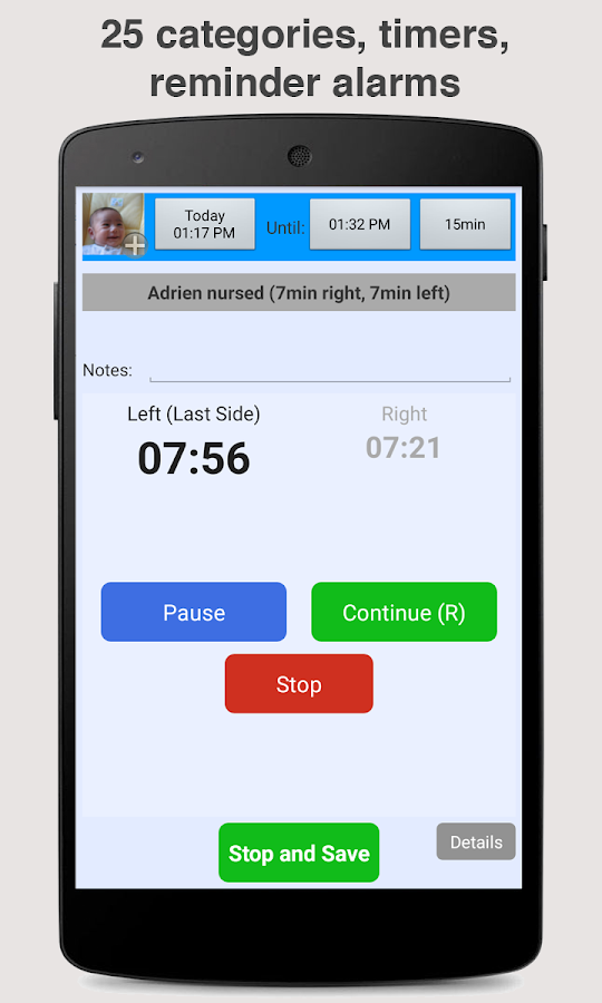 Baby Connect (activity logger) Screenshot 2