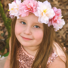 Aella by Marie Burns - Babies & Children Child Portraits ( easter, girl, aella, flowers, spring )