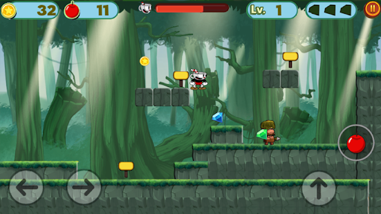 cup on head: World Mugman & Adventure jungle Game