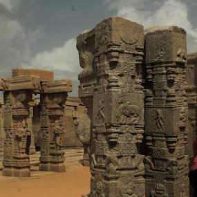 Standing old  by Srivenkata Subramanian - Buildings & Architecture Architectural Detail ( history, bangalore, old, hoysala, india, lepakshi,  )