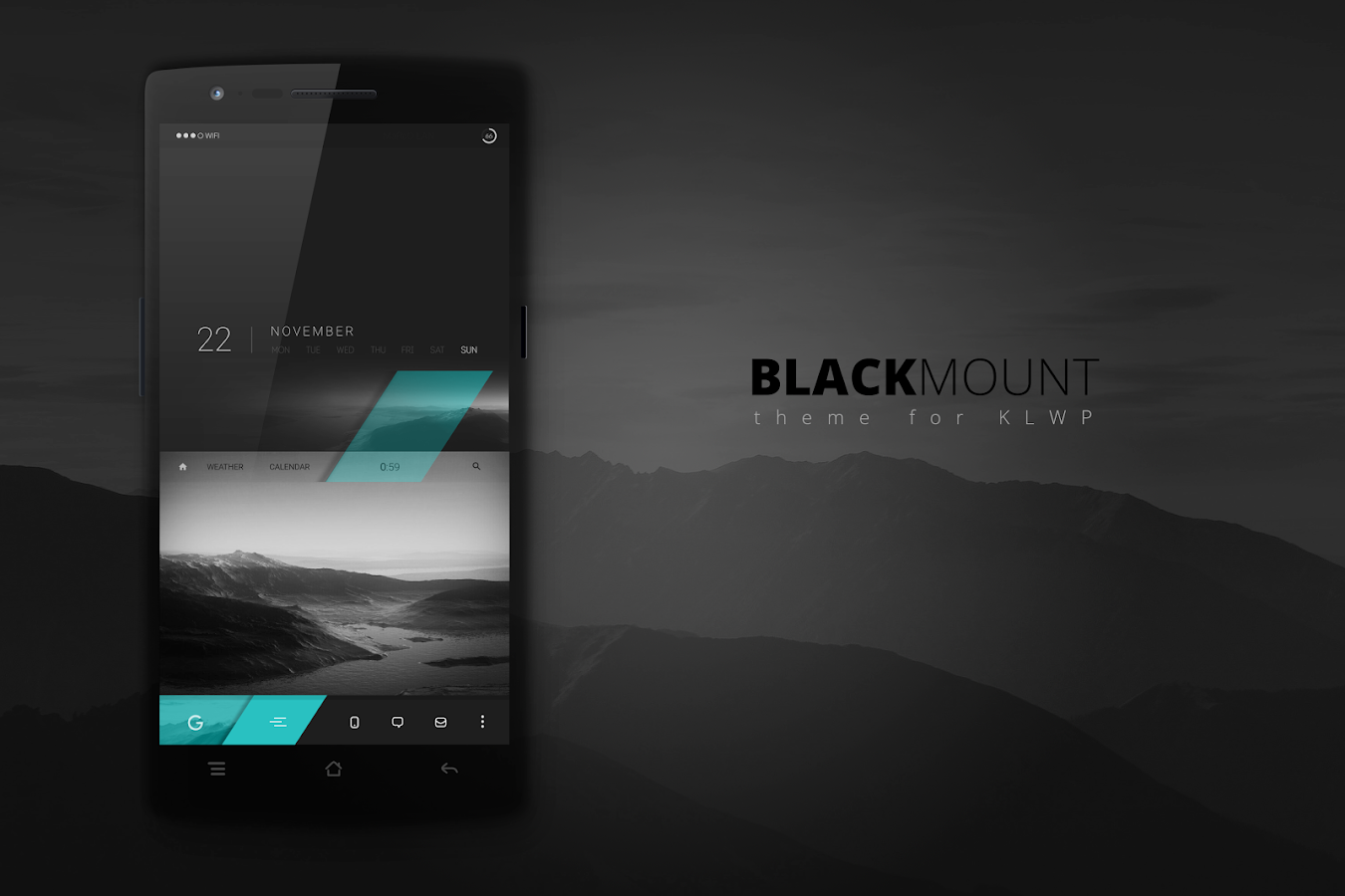 Blackmount theme for KLWP Screenshot 0