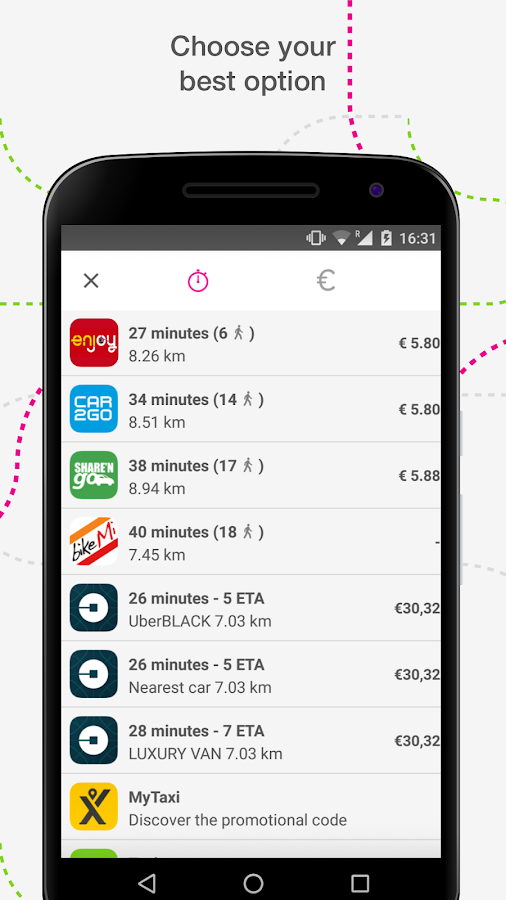 urbi - carsharing aggregator Screenshot 3
