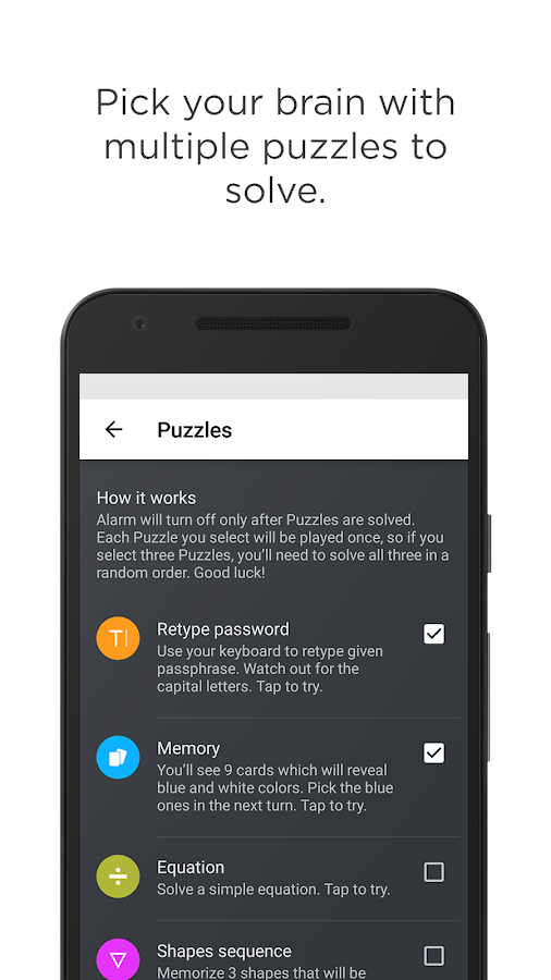 Puzzle Alarm Clock Screenshot 2