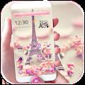 APK App Paris Tower Theme Pink Love for BB, BlackBerry