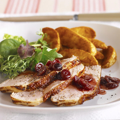 Turkey Breast with Cranberry and Mustard Sauce