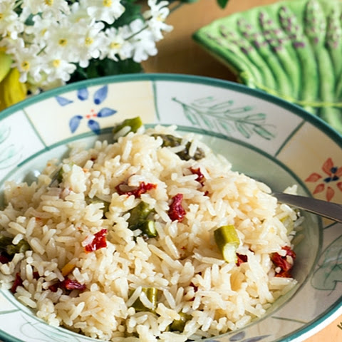 Jasmine Rice Pilaf with Asparagus and Sun-dried Tomatoes
