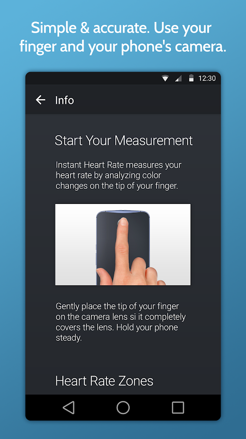 Instant Heart Rate+ : Heart Rate & Pulse Monitor Screenshot 1