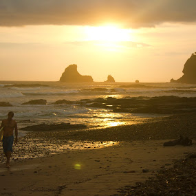 Sunset Nicaragua by Bryce Blood - Landscapes Waterscapes