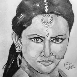 Devasena by Pritam Bhowmick - Drawing All Drawing