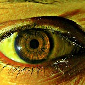 Deep in to the EYE by Anil Dhakad - People Body Parts ( strange, challenge, inside, deep, eyes )