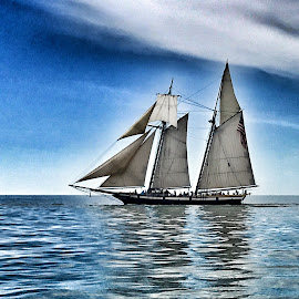 Sail Away by Lorna Littrell - Instagram & Mobile iPhone ( waterscape, sailing, sea, sail, boat )