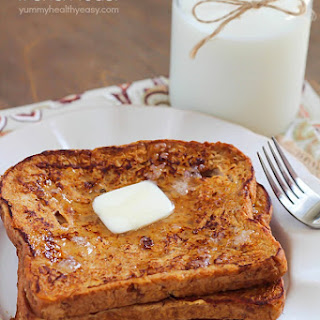 Healthier Pumpkin French Toast