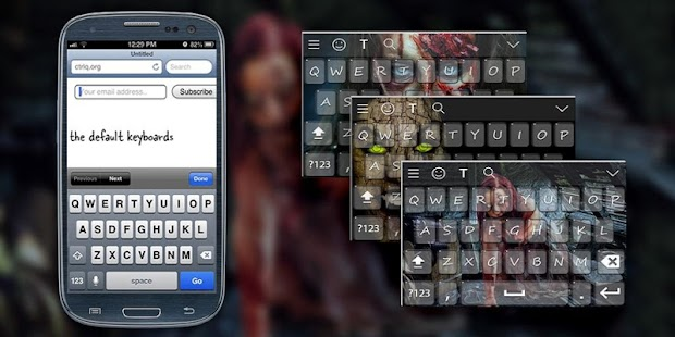 Zombie Keyboard Theme - screenshot