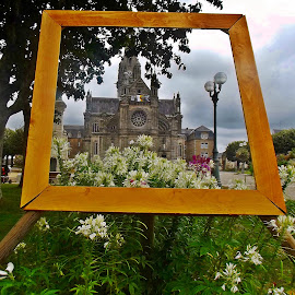Cathedrale de Sainte Anne d'Auray by Ciprian Apetrei - Buildings & Architecture Places of Worship ( frame, park, traditional, cathedral, brittany,  )