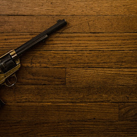 Black and brass revolver by Florin Marksteiner - Artistic Objects Antiques ( american civil war, guns, colt, brass, old west, revolver, classic, cavalry )