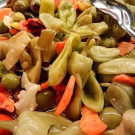 Pickled Veges by Kathy Rose Willis - Food & Drink Fruits & Vegetables ( peppers, colorful, vegetables, carrots, pickled, olives )
