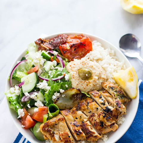 Mediterranean Chicken rice bowls