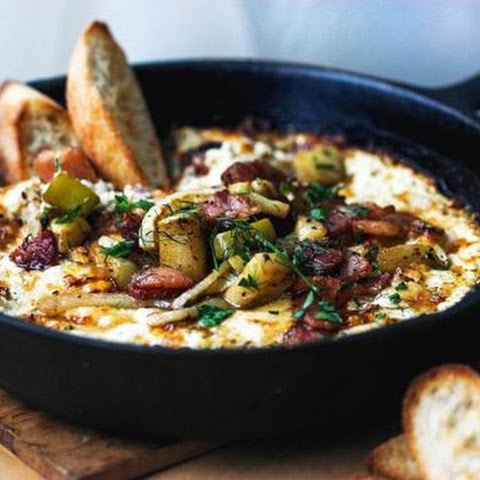 Recipe For Baked Goat Cheese Dip With Bacon, Apple, And Fennel