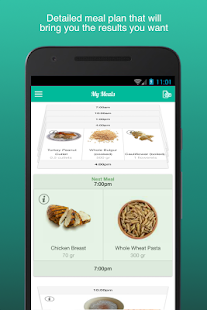 Fitness Meal Planner Fitness app screenshot for Android