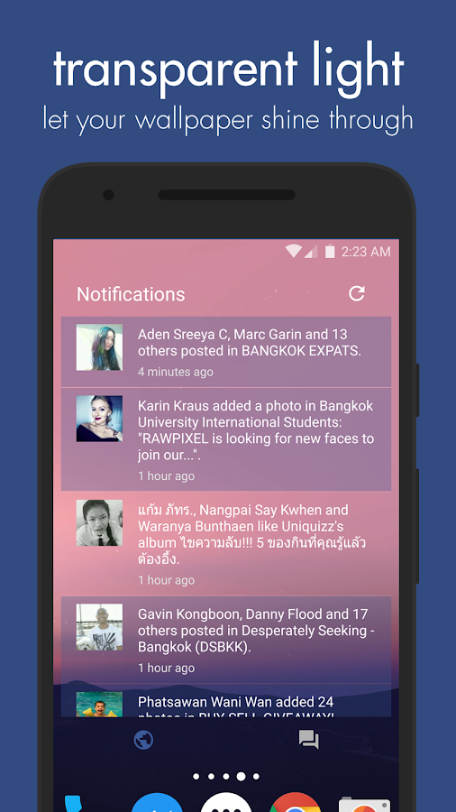 Swipe Widget for Facebook BETA Screenshot 3