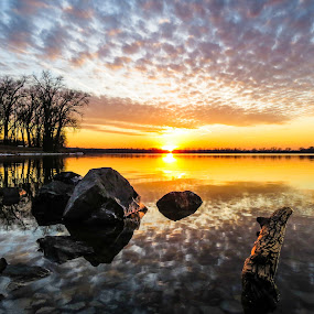 February Sun. by Jeremy Rose - Landscapes Sunsets & Sunrises