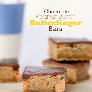 Chocolate Peanut Butter Butterfinger Bars