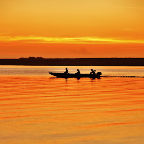 coming back from fishing in the river parana by Marcello Toldi - Landscapes Sunsets & Sunrises