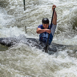 Paddling  by Mike Watts - Sports & Fitness Watersports ( olympic, rio, slalom, 2016, whitewater center, canoe, kayak )