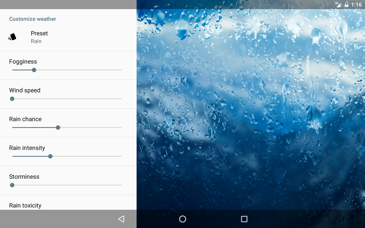 Rainpaper Screenshot 9