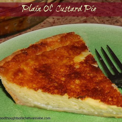 Plain Ol' Custard Pie