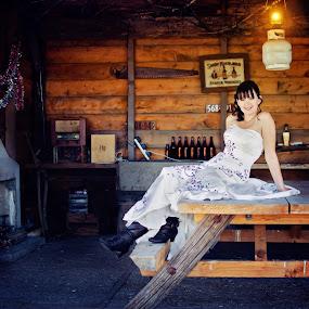 Bride Setting- Seated by Karissa Best - Wedding Bride ( amazing, seated, wedding, karissa best photography, bride )