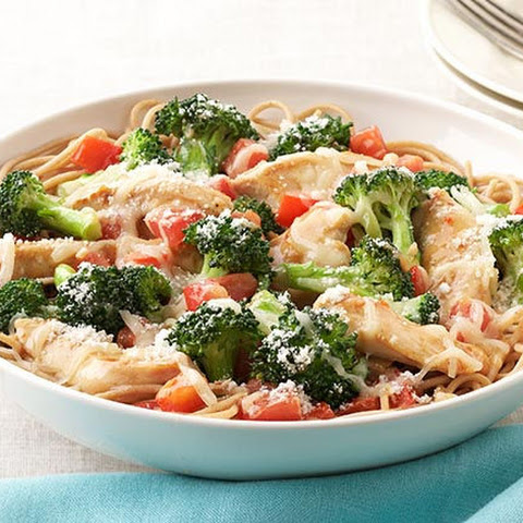 Parmesan, Chicken & Broccoli Pasta for Two