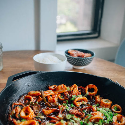 Spicy Korean Squid Stir Fry (Ojinguh Bokkeum)