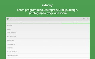 Screenshot of Udemy Online Courses