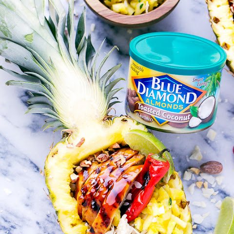 Grilled Teriyaki Chicken Pineapple Boats