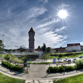 Water tower by Beeback AlterEgo Biba - Buildings & Architecture Public & Historical ( tower, hdr, slovenia, pwc89, brezice, bridges, water towet )