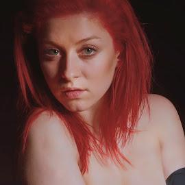 Denisa by Michaela Firešová - Nudes & Boudoir Artistic Nude ( nude, woman, portrait )