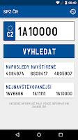 Screenshot of SPZ ČR