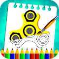 Fidget Spinner Coloring Book Pages for PC (Windows 7,8,10 & MAC)