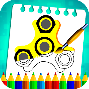 Fidget Spinner Coloring Book Pages For PC