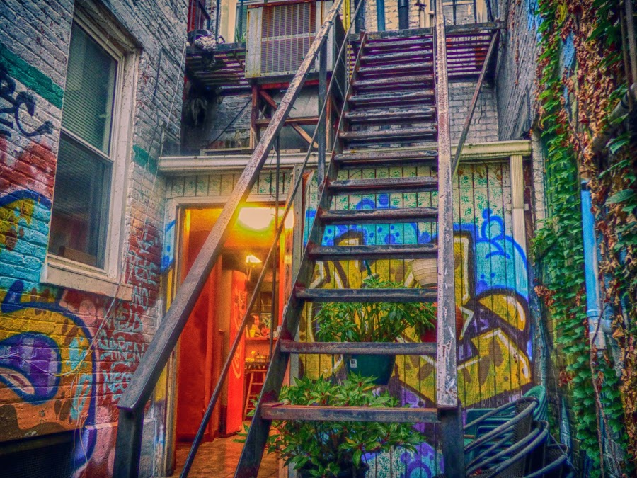 Pepi's Out Back in H D R by Dave Walters - Digital Art Places ( pepi's resturante, pittsburgh, art, colors h d r, buildings, city )