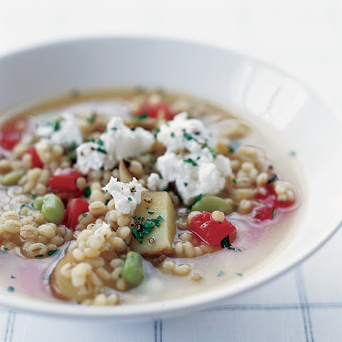 Barley Chupe with Queso Fresco