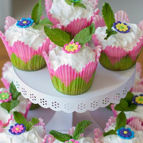 Coconut Surprise Key Lime Cupcakes