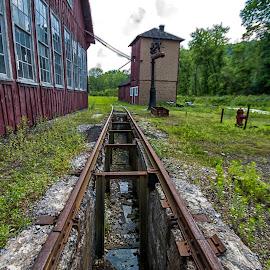 Abandoned Tracks by Carol Ward - Transportation Railway Tracks ( east broad top railroad, rockhill, railroad tracks, pa, abandoned )