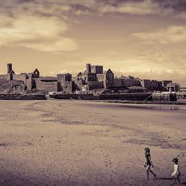 Sand & Castles by Paul Milligan - Landscapes Beaches ( castle, seaside, beach, landscape, coast )