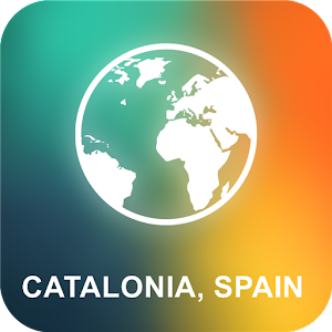 Catalonia, Spain Offline Map