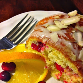 Cranberry Orange Bundt Cake with Orange Glaze