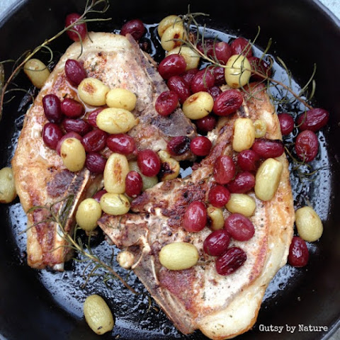 Pork Chops with Grapes and Herbs