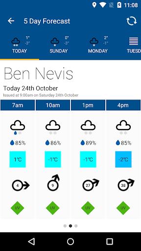 Mountain Weather UK - screenshot