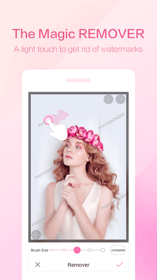 PhotoWonder: Pro Beauty Photo Editor&Collage Maker Screenshot 1
